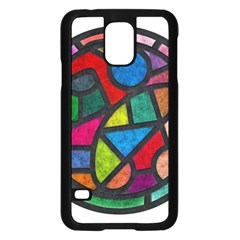 Stained Glass Color Texture Sacra Samsung Galaxy S5 Case (black)