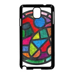 Stained Glass Color Texture Sacra Samsung Galaxy Note 3 Neo Hardshell Case (Black)