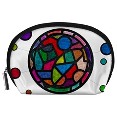 Stained Glass Color Texture Sacra Accessory Pouches (large)