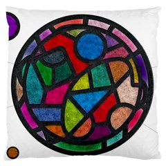 Stained Glass Color Texture Sacra Large Flano Cushion Case (two Sides)