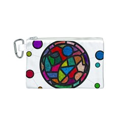 Stained Glass Color Texture Sacra Canvas Cosmetic Bag (s)