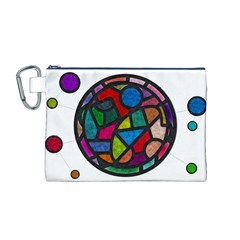 Stained Glass Color Texture Sacra Canvas Cosmetic Bag (m)