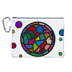 Stained Glass Color Texture Sacra Canvas Cosmetic Bag (L)