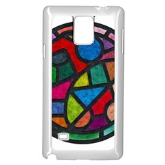 Stained Glass Color Texture Sacra Samsung Galaxy Note 4 Case (White)