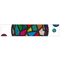 Stained Glass Color Texture Sacra Flano Scarf (Small)