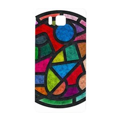 Stained Glass Color Texture Sacra Samsung Galaxy Alpha Hardshell Back Case