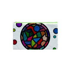 Stained Glass Color Texture Sacra Cosmetic Bag (XS)