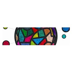 Stained Glass Color Texture Sacra Satin Scarf (oblong)
