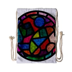 Stained Glass Color Texture Sacra Drawstring Bag (Small)