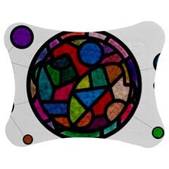 Stained Glass Color Texture Sacra Jigsaw Puzzle Photo Stand (bow)