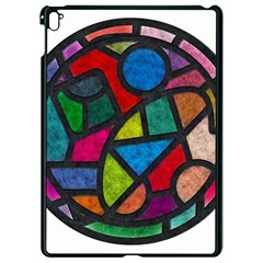 Stained Glass Color Texture Sacra Apple Ipad Pro 9 7   Black Seamless Case