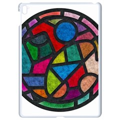 Stained Glass Color Texture Sacra Apple Ipad Pro 9 7   White Seamless Case