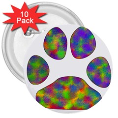 Paw 3  Buttons (10 pack)