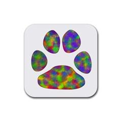 Paw Rubber Coaster (Square)