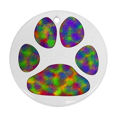 Paw Round Ornament (two Sides)