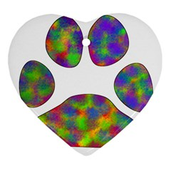 Paw Heart Ornament (two Sides)