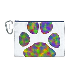 Paw Canvas Cosmetic Bag (m)
