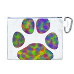 Paw Canvas Cosmetic Bag (XL) Back