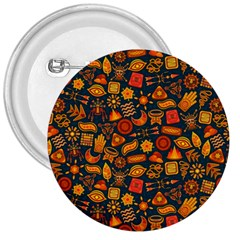 Pattern Background Ethnic Tribal 3  Buttons