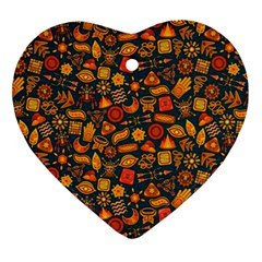 Pattern Background Ethnic Tribal Ornament (heart)