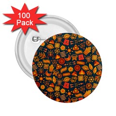 Pattern Background Ethnic Tribal 2 25  Buttons (100 Pack)