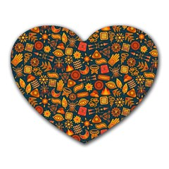 Pattern Background Ethnic Tribal Heart Mousepads