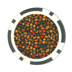 Pattern Background Ethnic Tribal Poker Chip Card Guard