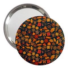 Pattern Background Ethnic Tribal 3  Handbag Mirrors