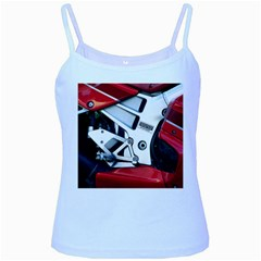 Footrests Motorcycle Page Baby Blue Spaghetti Tank