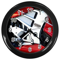Footrests Motorcycle Page Wall Clocks (Black)