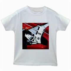 Footrests Motorcycle Page Kids White T-Shirts