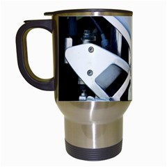 Footrests Motorcycle Page Travel Mugs (white)