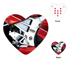 Footrests Motorcycle Page Playing Cards (Heart)
