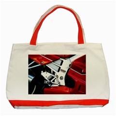 Footrests Motorcycle Page Classic Tote Bag (Red)