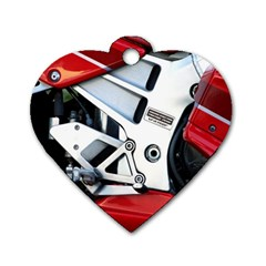 Footrests Motorcycle Page Dog Tag Heart (two Sides)