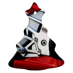 Footrests Motorcycle Page Christmas Tree Ornament (two Sides)