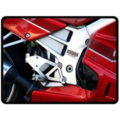 Footrests Motorcycle Page Double Sided Fleece Blanket (large)