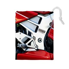 Footrests Motorcycle Page Drawstring Pouches (Large)