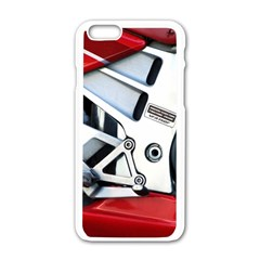 Footrests Motorcycle Page Apple iPhone 6/6S White Enamel Case