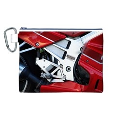 Footrests Motorcycle Page Canvas Cosmetic Bag (L)