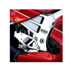 Footrests Motorcycle Page Small Satin Scarf (Square)