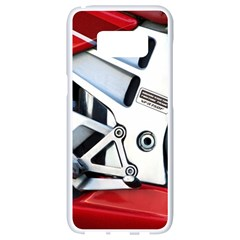 Footrests Motorcycle Page Samsung Galaxy S8 White Seamless Case