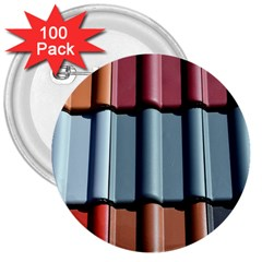 Shingle Roof Shingles Roofing Tile 3  Buttons (100 Pack)