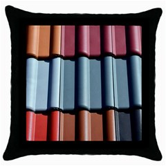 Shingle Roof Shingles Roofing Tile Throw Pillow Case (black)