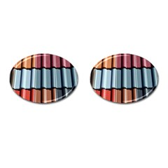 Shingle Roof Shingles Roofing Tile Cufflinks (Oval)