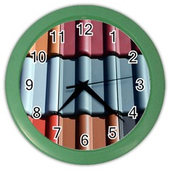 Shingle Roof Shingles Roofing Tile Color Wall Clocks
