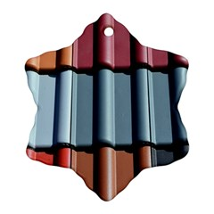 Shingle Roof Shingles Roofing Tile Snowflake Ornament (two Sides)