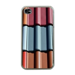 Shingle Roof Shingles Roofing Tile Apple Iphone 4 Case (clear)