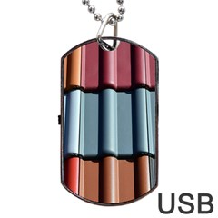 Shingle Roof Shingles Roofing Tile Dog Tag USB Flash (Two Sides)