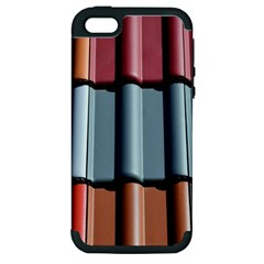 Shingle Roof Shingles Roofing Tile Apple iPhone 5 Hardshell Case (PC+Silicone)
